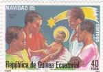 Stamps Equatorial Guinea -  Navidad 85
