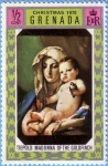 Stamps : America : Grenada :  Tiepolo: Madonna of the Goldfinch