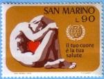 Sellos del Mundo : Europa : San_Marino :  Il tuo cuore è la tua salute