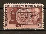 Sellos de America - Estados Unidos -  150 Aniversario del Territorio de Mississippi.