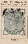 Stamps United Kingdom -  R. Victoria Ed 1880