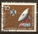 Sellos de Europa - Alemania -  Vía satélite antena parabólica.
