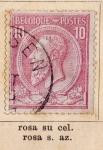 Sellos del Mundo : Europa : Bélgica : R. Leopoldo I Ed 1884
