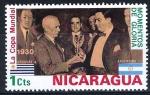 Stamps America - Nicaragua -  Momentos de gloria. Copa Mundial de 1930.