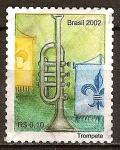 Sellos del Mundo : America : Brasil : Instrumentos musicales(trompeta).