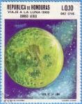 Stamps : America : Honduras :  Viaje a la Luna 1969