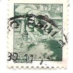 Stamps Brazil -  jardinero