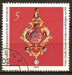 Sellos del Mundo : Europa : Alemania : Bóveda Verde de Dresde-Joya,Hueso de cereza con 180 cabezas,sobre el año 1590(DDR)