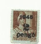 Stamps : Europe : Hungary :  Estampilla  2ª guerra mundial