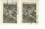 Stamps : Europe : Russia :  Estampilla  2ª guerra mundial