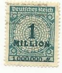 Stamps : Europe : Germany :  Deutsches Reich - 1 Million