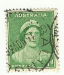 Stamps Australia -  Reina Victoria