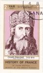 Stamps Yemen -  HISTORIA DE FRANCIA- Carlomagno 742-814