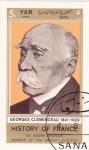 Sellos de Asia - Yemen -  HISTORIA DE FRANCIA-  Georges Clemenceau 1841-1929