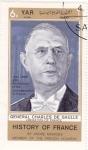 Stamps Yemen -  HISTORIA DE FRANCIA-  General Charles de gaulle liberación de Francia