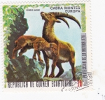 Sellos de Africa - Guinea Ecuatorial -  PROTECCION DE LA NATURALEZA -Cabra montes  -Europa
