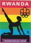 Stamps Rwanda -  Olimpiada Montreal 1976