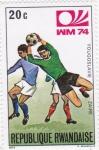 Stamps Rwanda -  Mundial de futbol-Munich 74