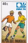 Sellos de Africa - Rwanda -  Mundial de futbol-Munich 74