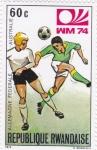 Stamps : Africa : Rwanda :  Mundial de futbol-Munich 74