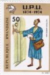 Sellos de Africa - Rwanda -  cartero marroqui