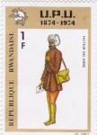 Stamps Rwanda -  cartero indu