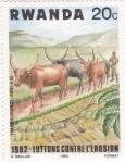 Sellos de Africa - Rwanda -  1982 lucha contra la erosion
