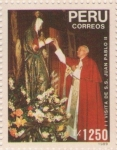 Sellos de America - Perú -  II Visita del Papa Juan Pablo II 1989