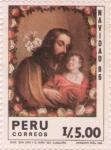Stamps Peru -  San Jose y el niño Jesús 1986