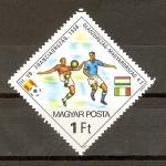 Stamps Hungary -  CAMPEONATO   MUNDIAL   ESPAÑA   1982