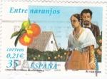 Sellos del Mundo : Europa : España :  literatura española-Entre naranjos