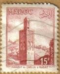 Sellos de Africa - Marruecos -  Mirador de CHELLA A RABAT