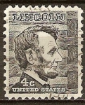 Sellos del Mundo : America : Estados_Unidos : Presidente ,Abraham Lincoln.