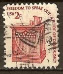 Sellos del Mundo : America : Estados_Unidos : La libertad de hablar-A raíz de la democracia.