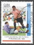 Stamps Cuba -  Copa mundial de Futbol Francia 98