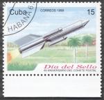 Stamps Cuba -  Dia del sello, 60 Aniversario del cohete postal