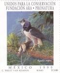 Stamps Mexico -  unidos para la conservacion fundacion Ara