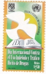 Stamps of the world : Mexico :  Dia internacional contra el uso indebido trafico ilicito de drogas