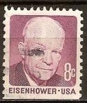 Sellos del Mundo : America : Estados_Unidos : Presidente,Dwight D. Eisenhower.