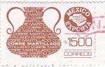 Stamps Mexico -  Mexico exporta-cobre martillado