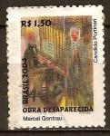 Sellos del Mundo : America : Brasil : Obra Desaparecida Marcel Gontrau Cándido Portinari (Pianista y cantante)