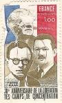 Sellos de Europa - Francia -  30 Aniversaire de la liberation des camps de concentration