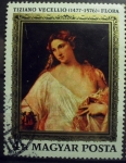 Stamps : Europe : Hungary :  Tiziano Vecellio- Flora