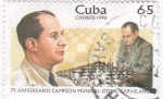 Stamps Cuba -  75 aniversario campeon mundial Capablanca