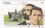 Sellos de America - Cuba -  centenario de la caisa en combate de Antonio  Maceo