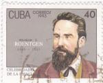 Sellos de America - Cuba -  celebridades de la ciencia-Roentgen