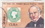 Sellos de America - Cuba -  150  aniversario .del  primer sello postal