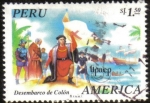 Stamps of the world : Peru :  Desembarco de Colon