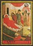 Sellos del Mundo : Asia : Emiratos_Árabes_Unidos : Escuela de pinturas de Moscu:Navidad de la Santísima Virgen María.