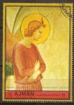 Sellos del Mundo : Asia : Emiratos_Árabes_Unidos : Fra Angelico:el anunciamiento.